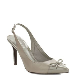 Ralph Lauren Gray Sling Back Pointed Heels Size 7